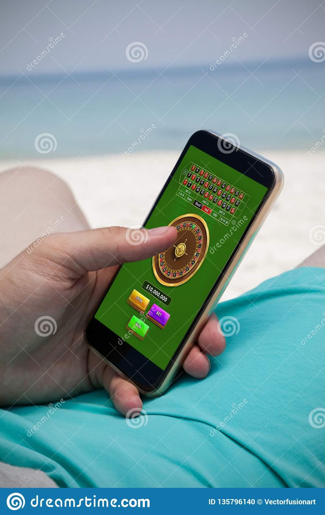 Image Composée De Jeu En Ligne De Roulette Photo Stock tout Jeux De Billes En Ligne