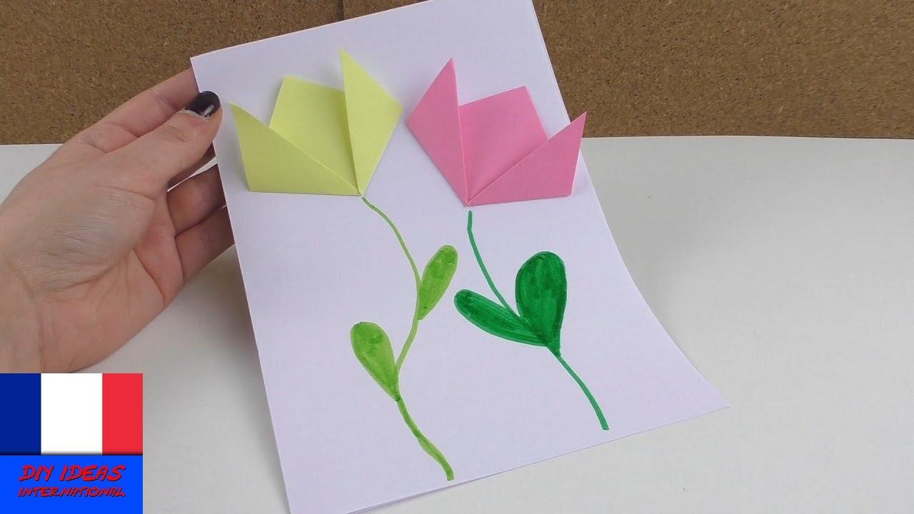 Image De Printemps Avec Des Fleurs En Papier | Bricolage Et Pliage |  Français serapportantà Travaux Manuels Printemps Maternelle