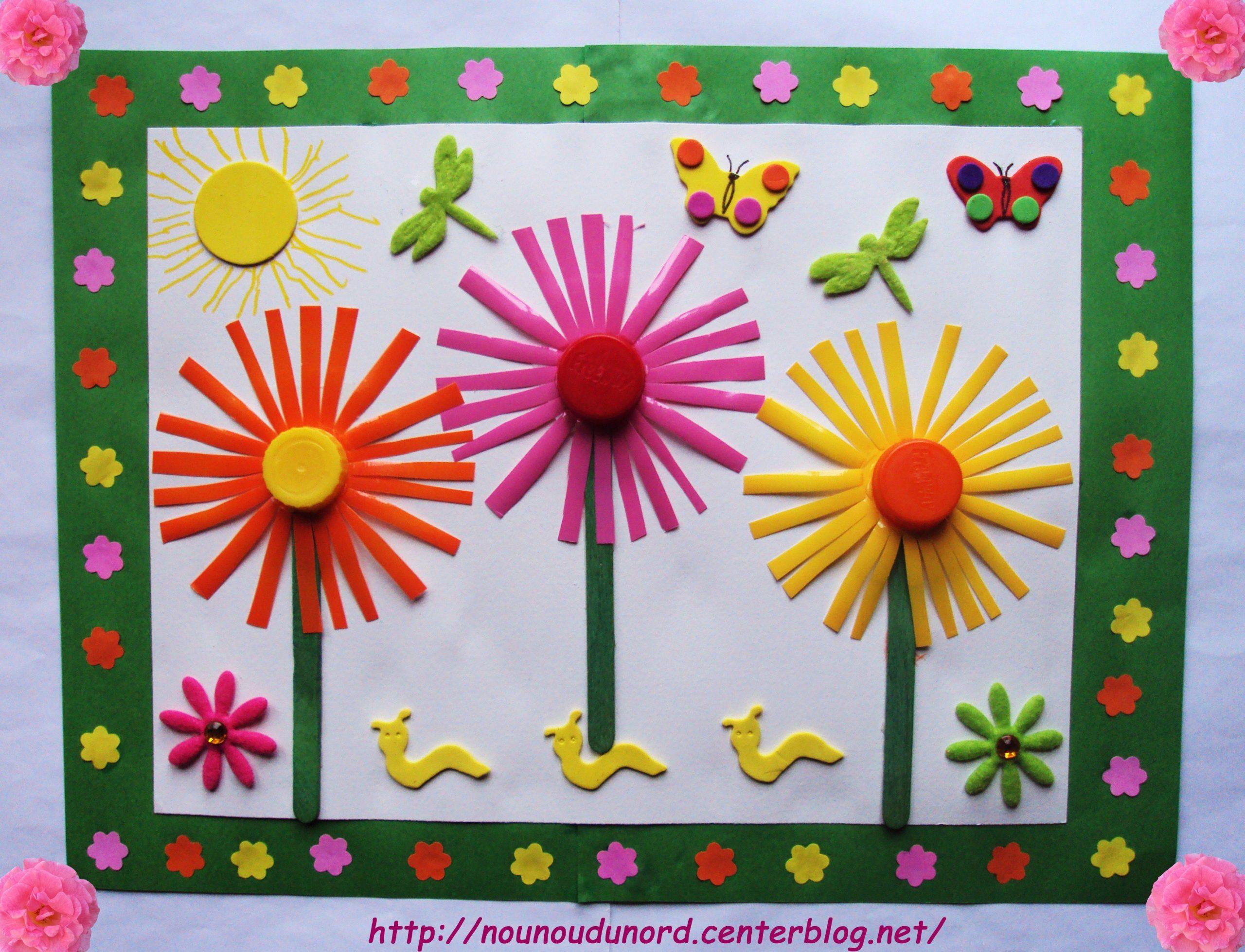 Image Du Blog Nounoudunord.centerblog | Tvoření S Detmi dedans Travaux Manuels Printemps Maternelle