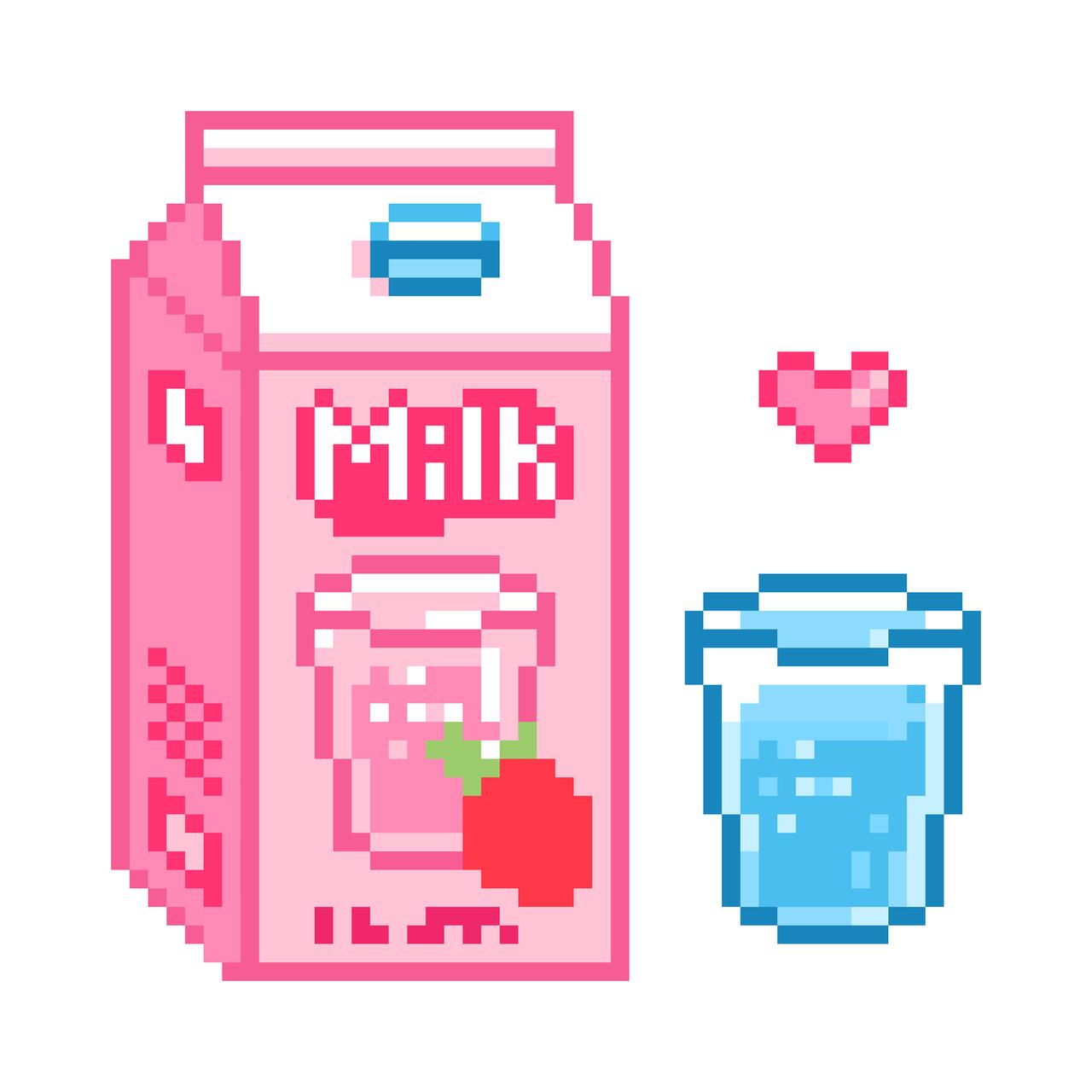 Image In Digital Pixel Art Collection By Cmz • Special Asian destiné Pixel Art Fraise