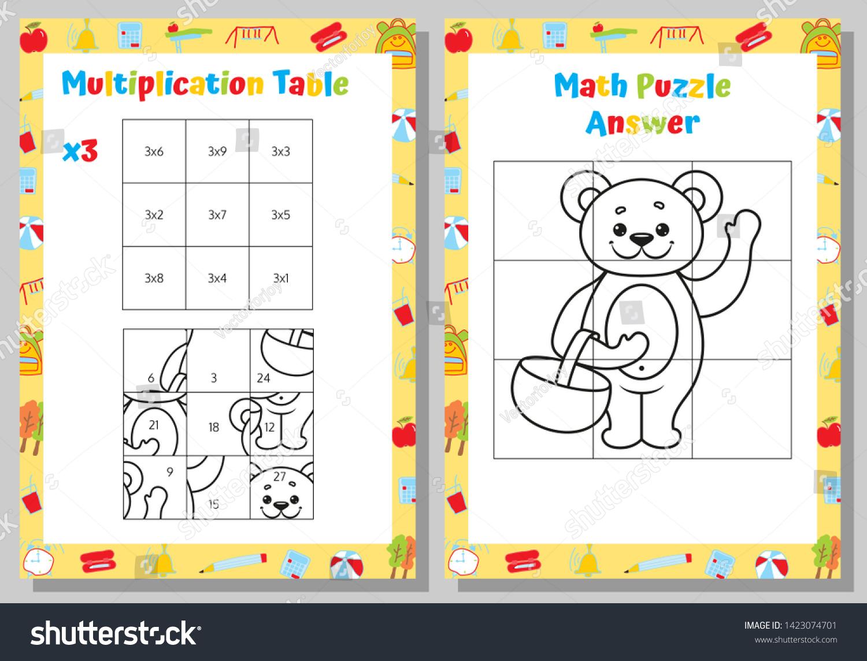 Image Vectorielle De Stock De Feuille De Calcul De Casse avec Jeux Educatif Table De Multiplication