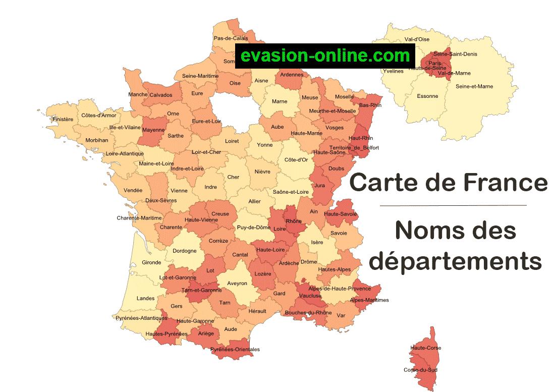 Images De Plans Et Cartes De France » Vacances - Arts avec Numero Des Departements Francais
