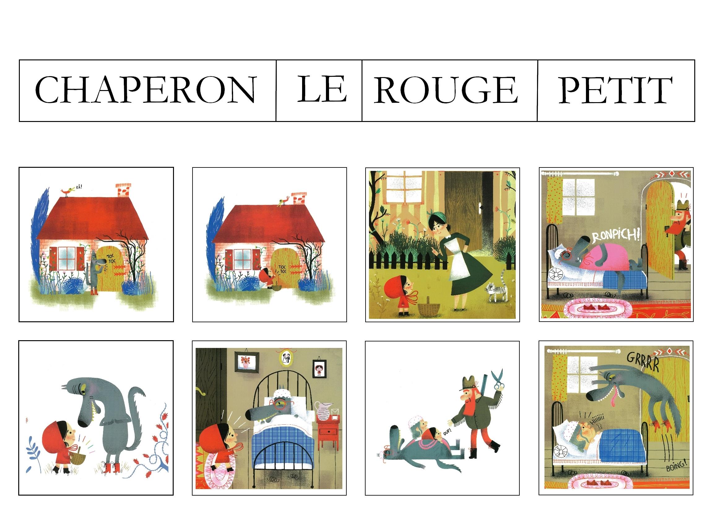 Images Séquentielles : Le Petit Chaperon Rouge - Maitresse intérieur Images Séquentielles À Imprimer