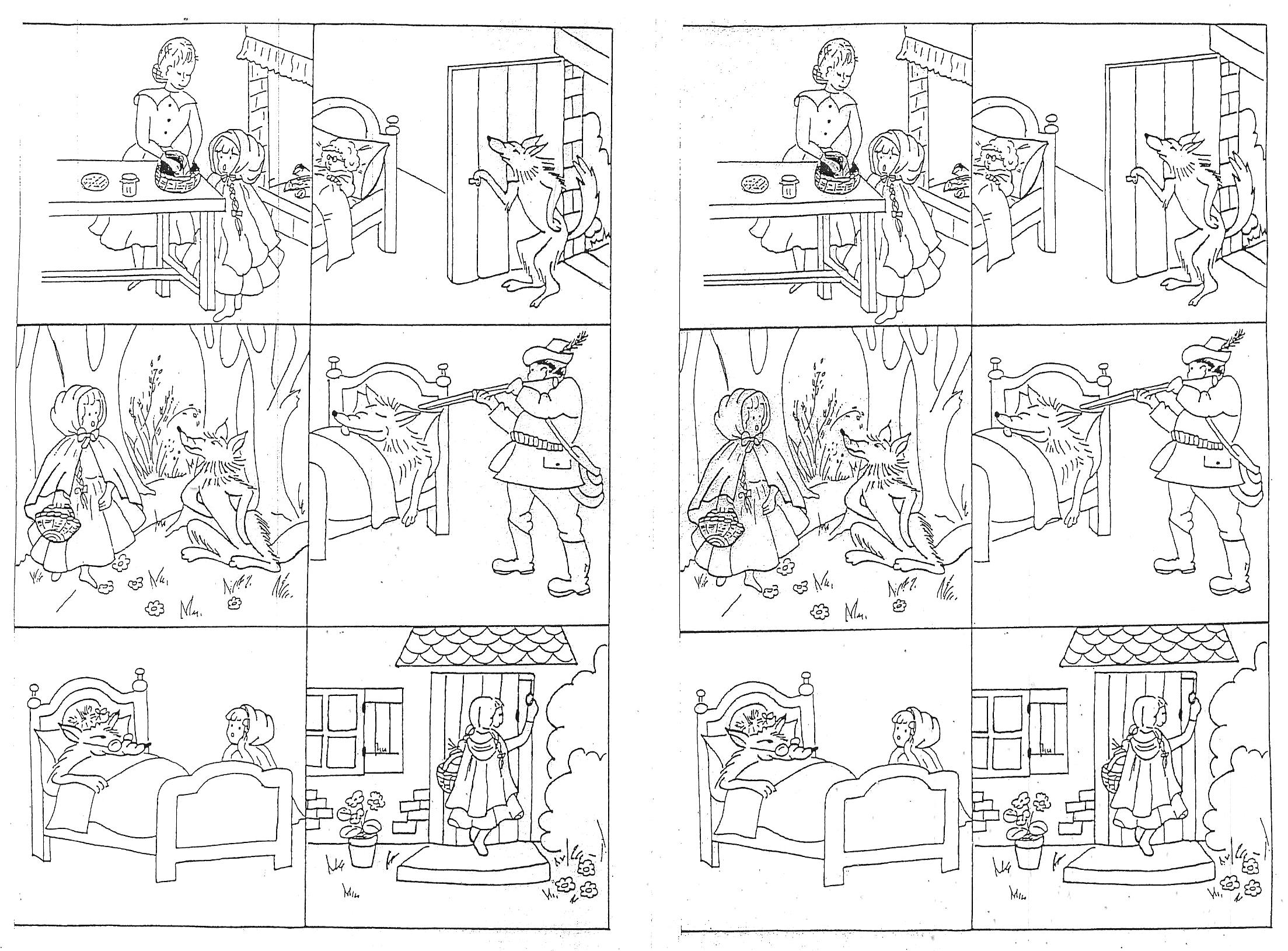 """Images Séquentielles """"le Petit Chaperon Rouge"""" - Rédaction intérieur Images Séquentielles À Imprimer"""