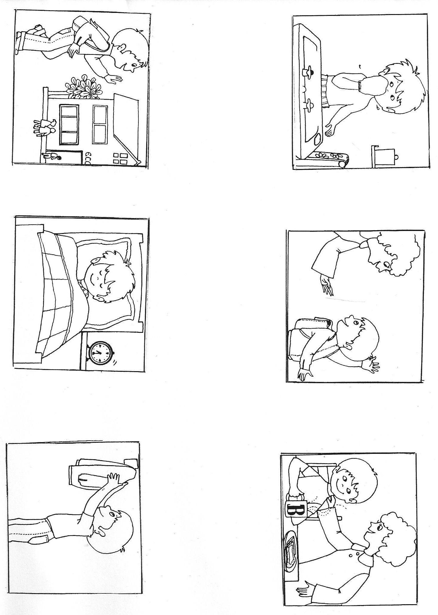 """Images Séquentielles """"une Journée D'école"""" (6 Images tout Images Séquentielles À Imprimer"""