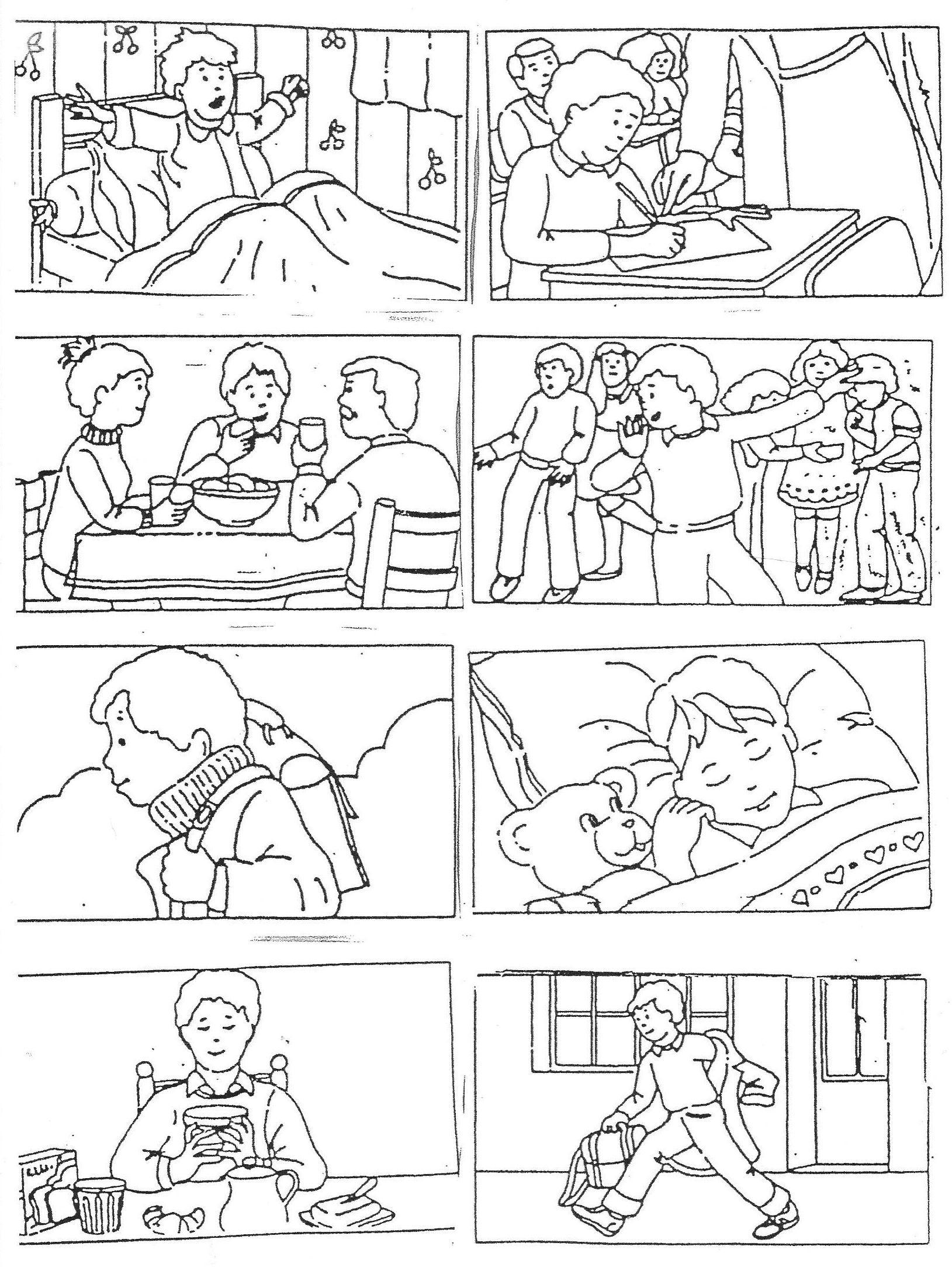 """Images Séquentielles """"une Journée D'école"""" (8 Images encequiconcerne Images Séquentielles À Imprimer"""