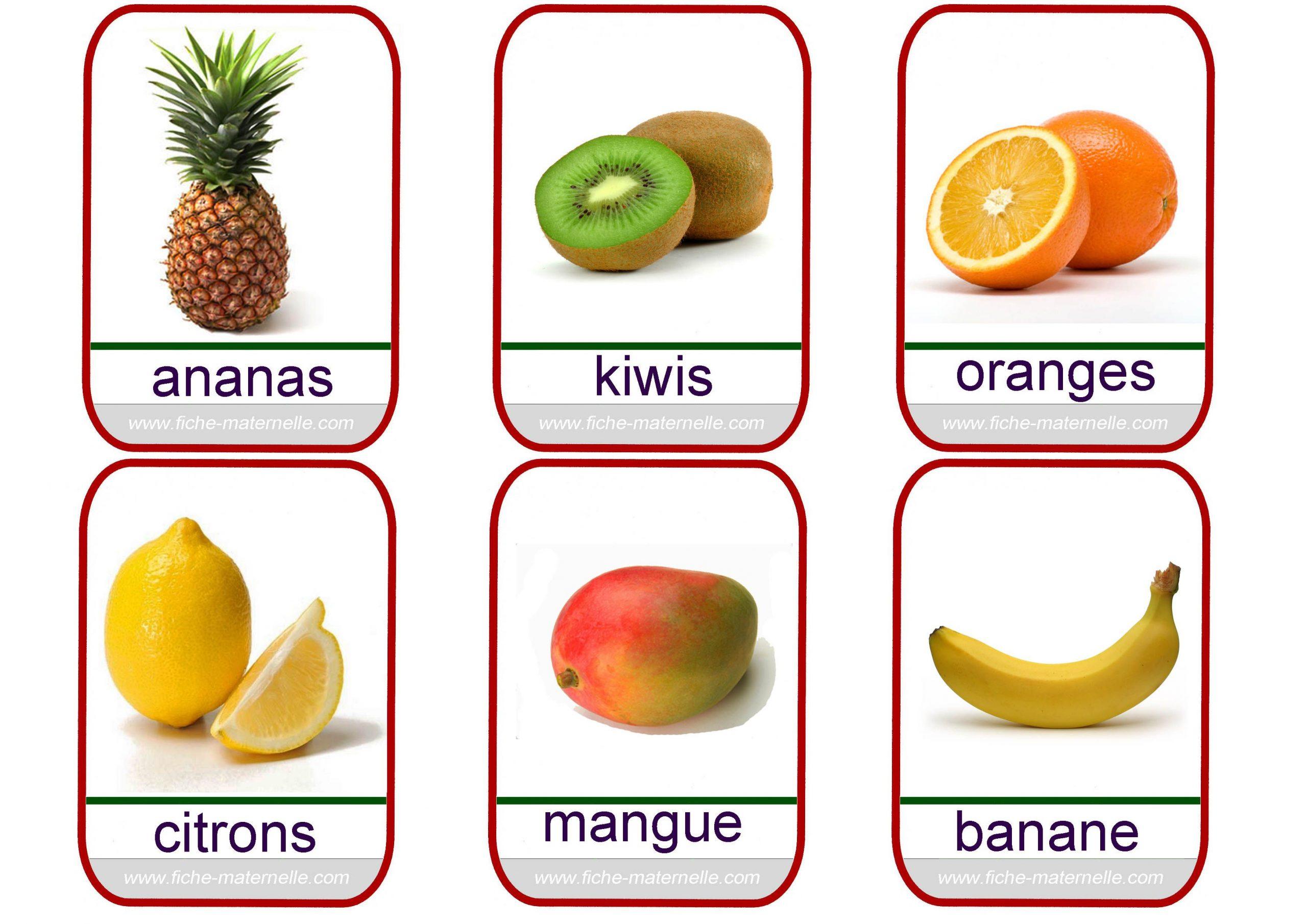 Imagier | Étiquette Fruits Et Légumes, Apprendre Les Fruits pour Jeux De Fruit Et Legume Coupé