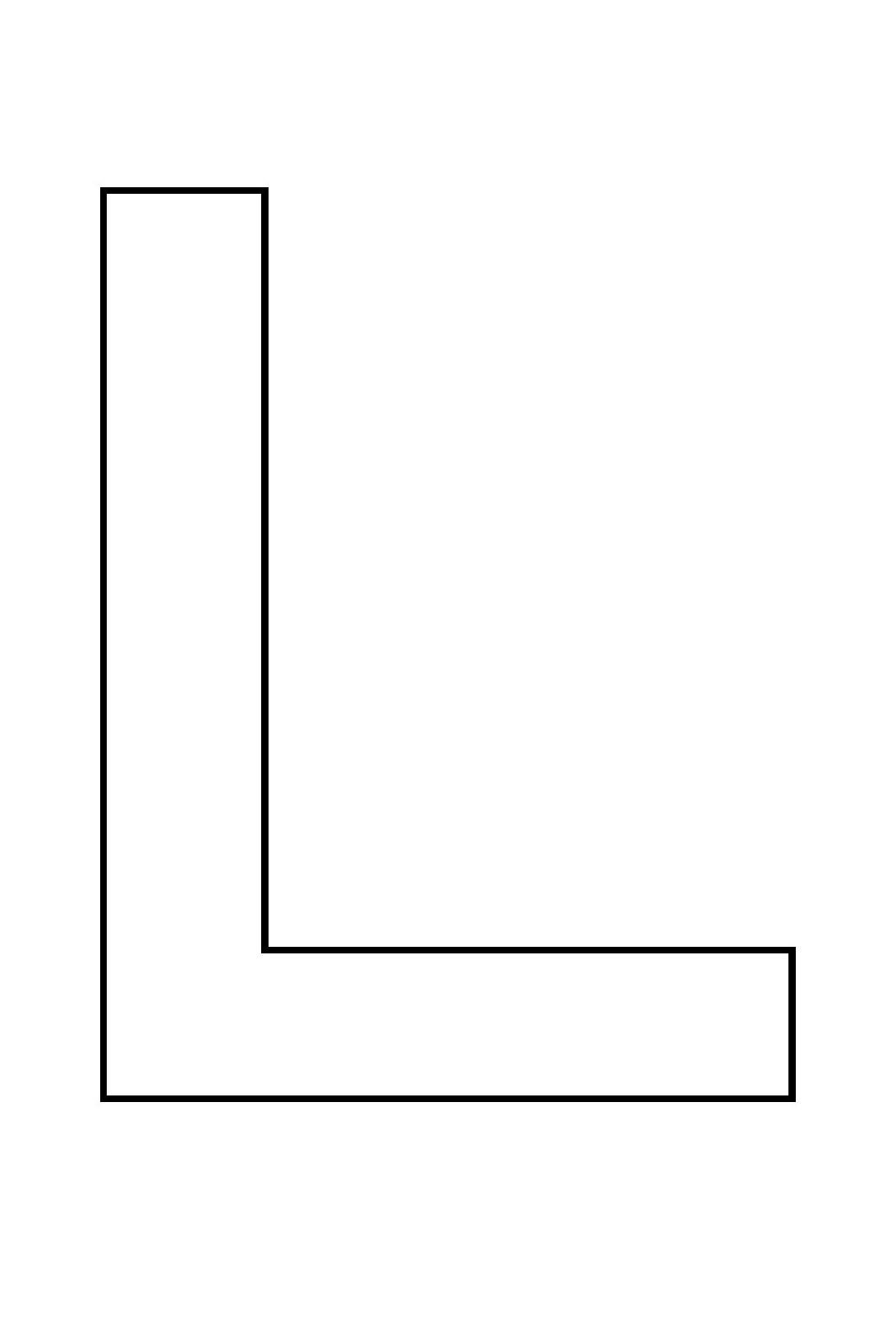 Imprimer Le Coloriage Chiffres Et Formes Alphabet Lettre L concernant Coloriage D Alphabet