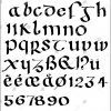 Insular Majuscule Stock Vector (Royalty Free) 619446305 serapportantà Majuscule Script