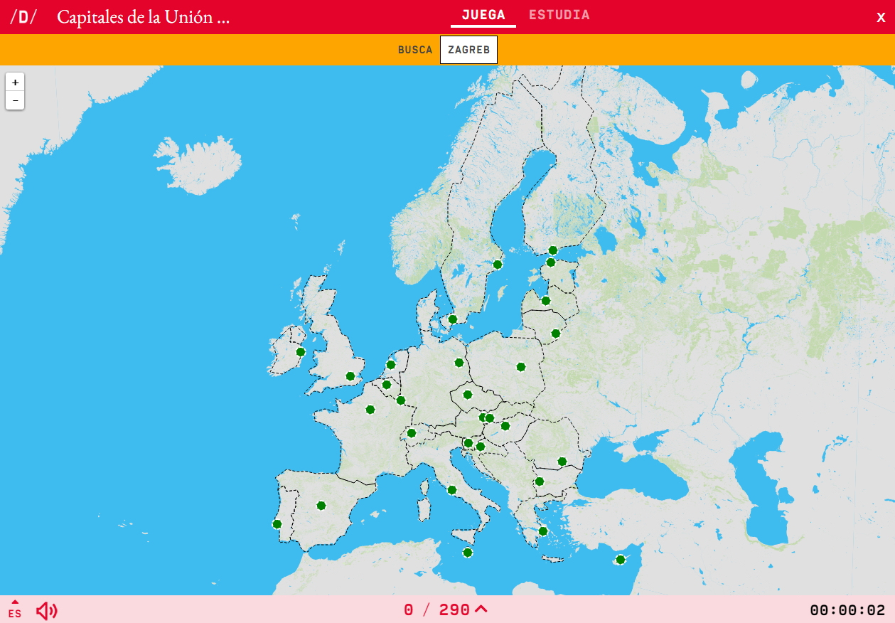 Interactive Map. Where Is It? European Union's Capital intérieur Quiz Sur Les Capitales De L Union Européenne