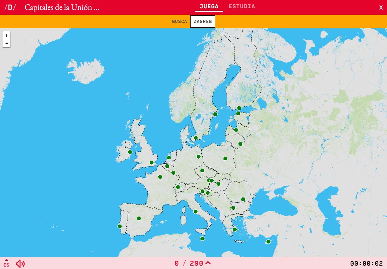 Interactive Map. Where Is It? European Union's Capital serapportantà Capital De L Union Européenne