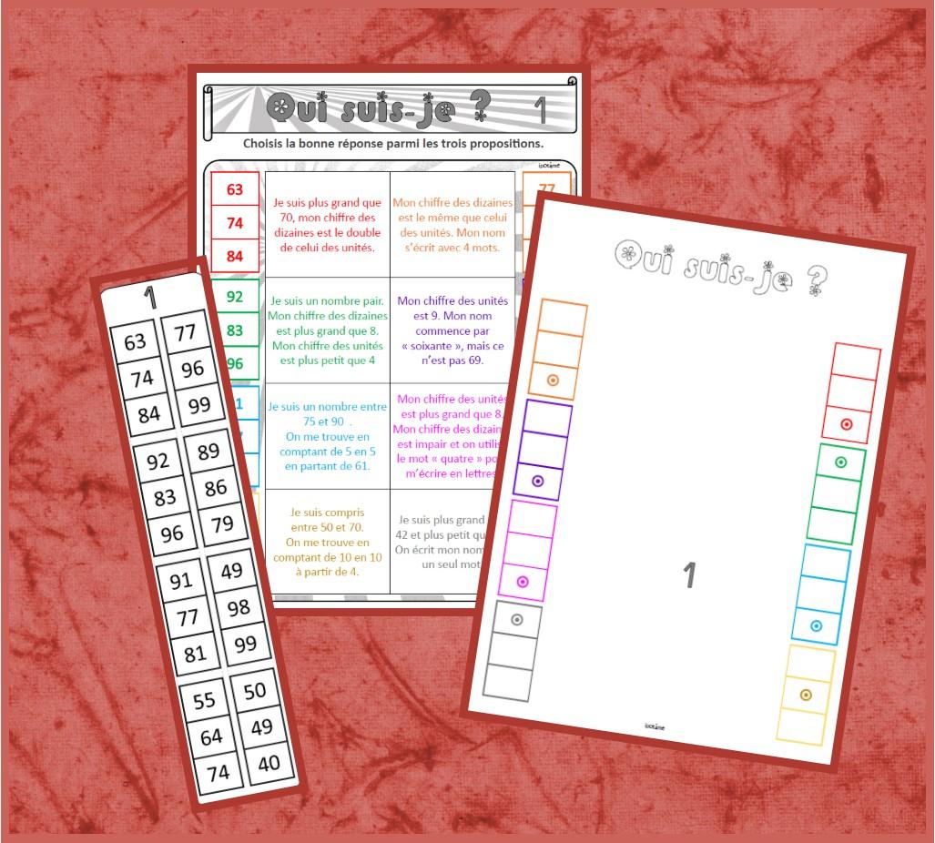 Ipotâme .tâme: Ce1 : Jeu Nombres À 2 Chiffres, Devinettes. avec Jeux Mathématiques Cm2 À Imprimer