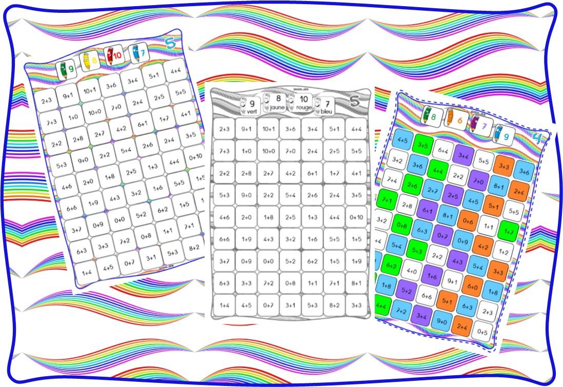 Ipotâme .tâme: Cp Ce Calcul : Coloriage Magique Pavage pour Coloriage De Calcul