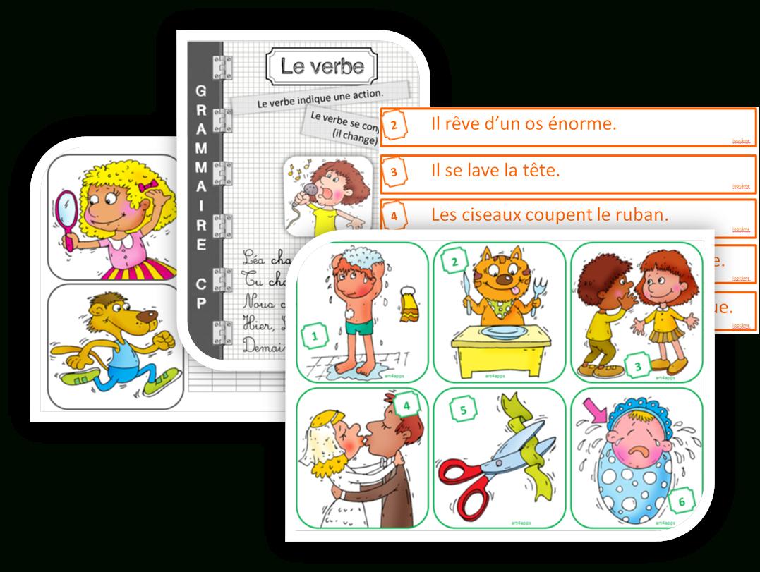 Ipotâme .tâme: Cp Grammaire : Découvrir Le Verbe D'action à Verbe Jeux