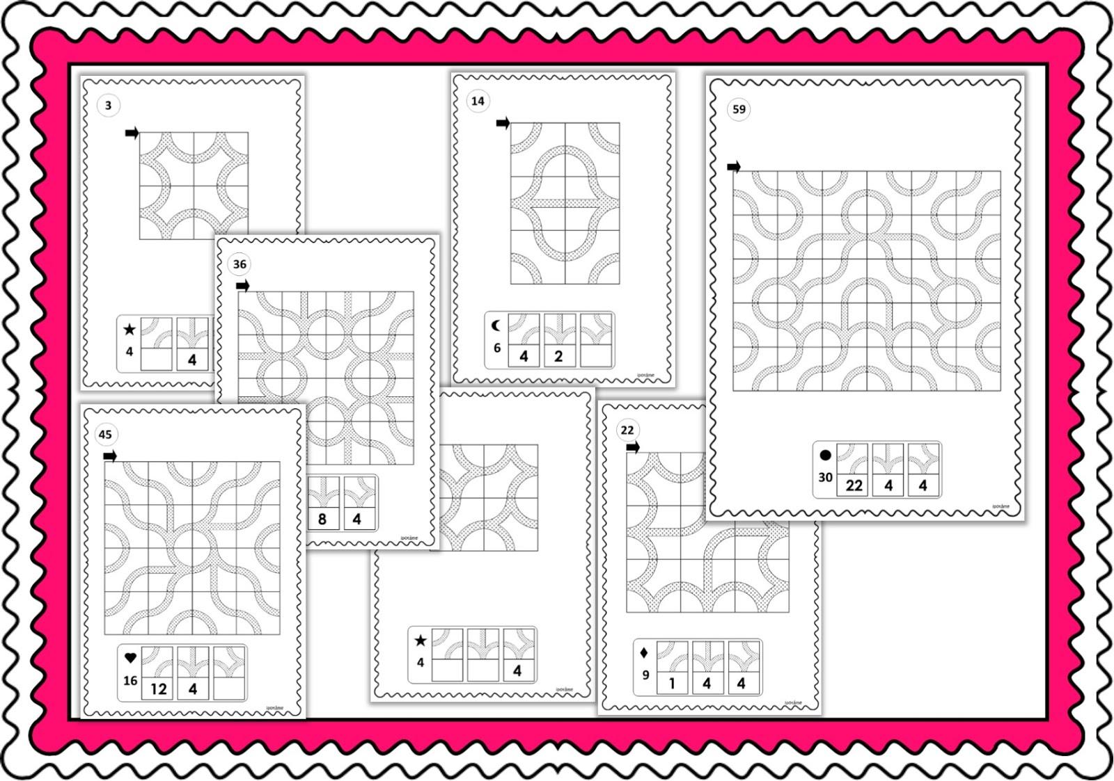 Ipotâme .tâme: Cycle 2 Pavages Géométriques, Reproduction avec Reproduction De Figures Ce2 Quadrillage