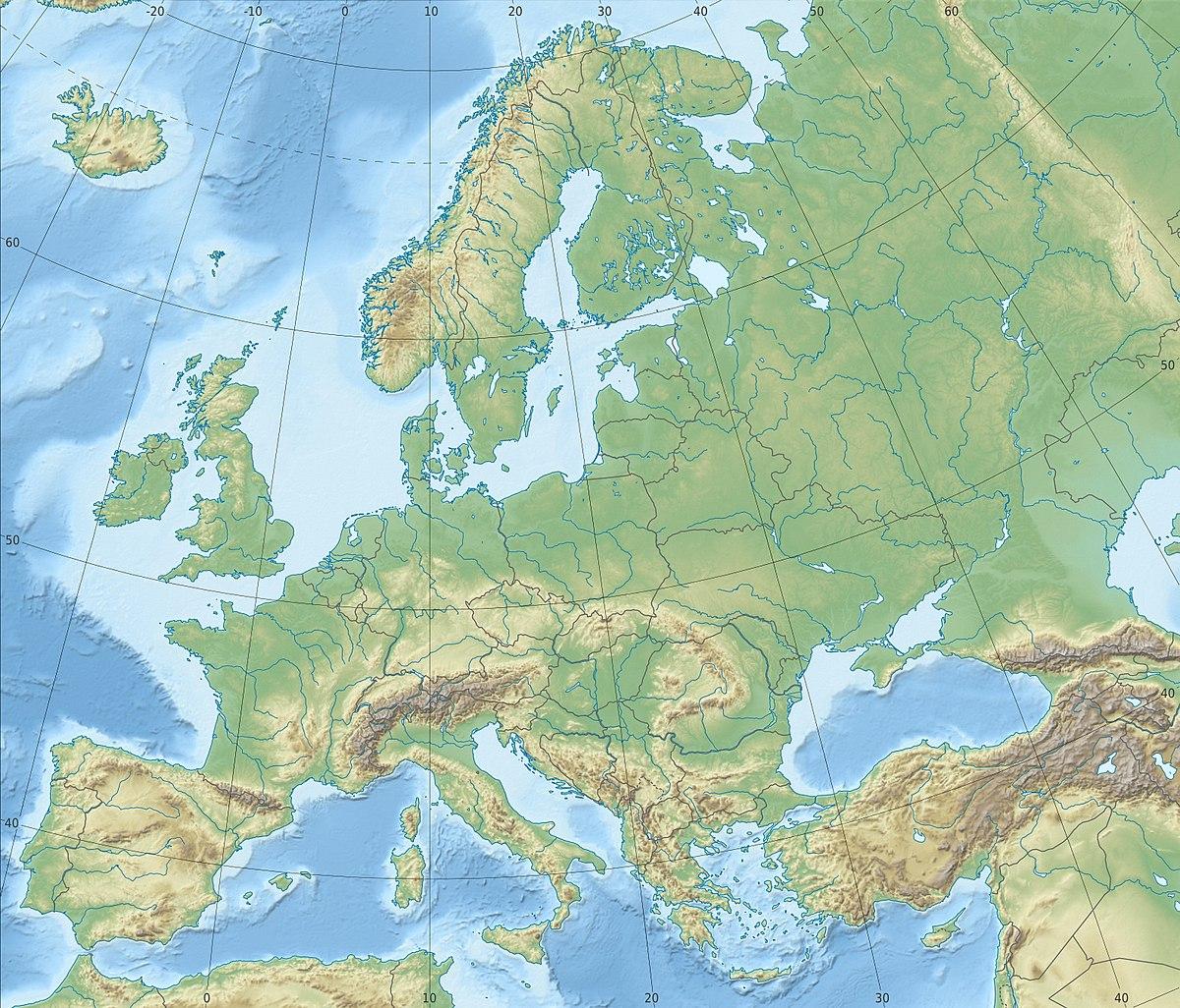 Istanbul - Wikipedia dedans Carte De L Europe En Relief