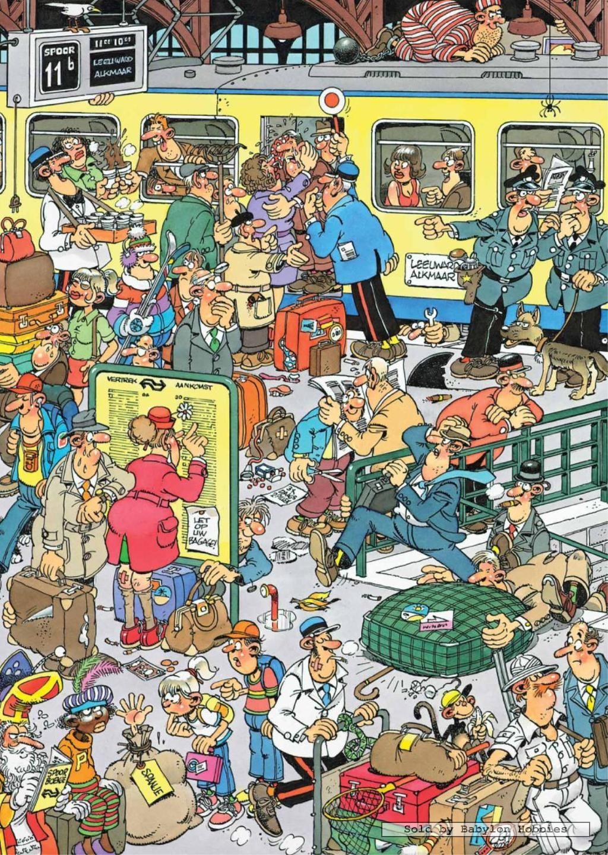 Jan Van Haasteren, Train - Swedish Cartoonist Van Haasteren concernant Puzzle En Ligne Facile