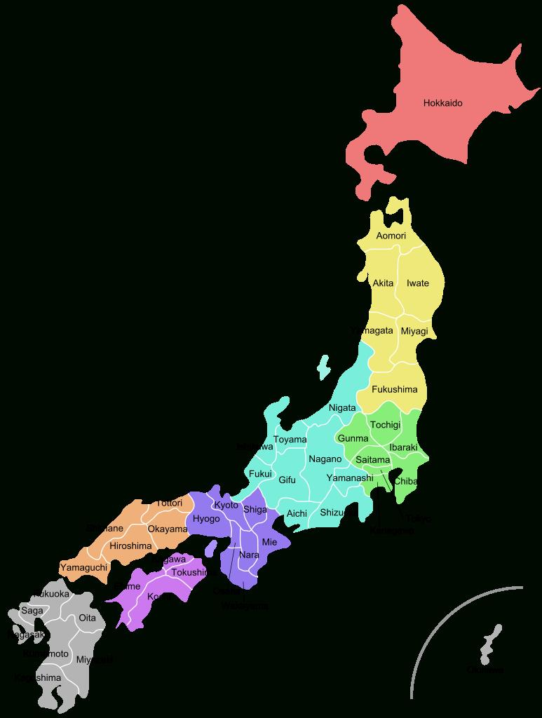 Japon - Préfectures • Carte • Populationdata concernant Carte Des Préfectures