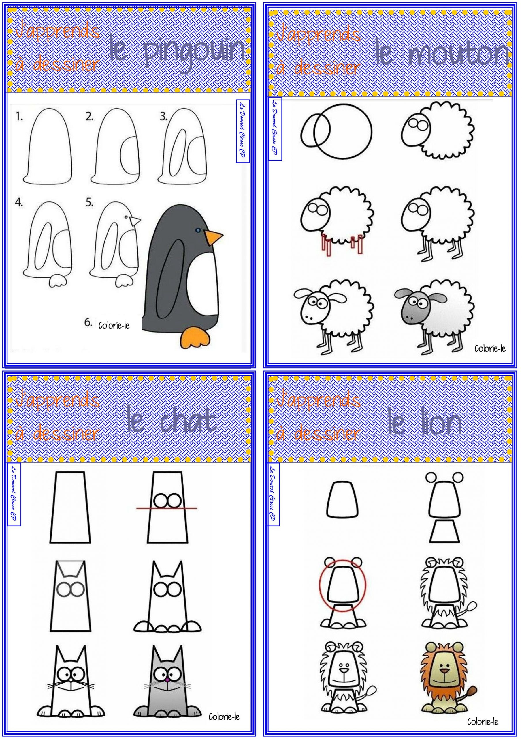 J'apprends À Dessiner Les Animaux - La Domrod Classe Cp dedans Apprendre A Dessiner Des Animaux Facilement Et Gratuitement