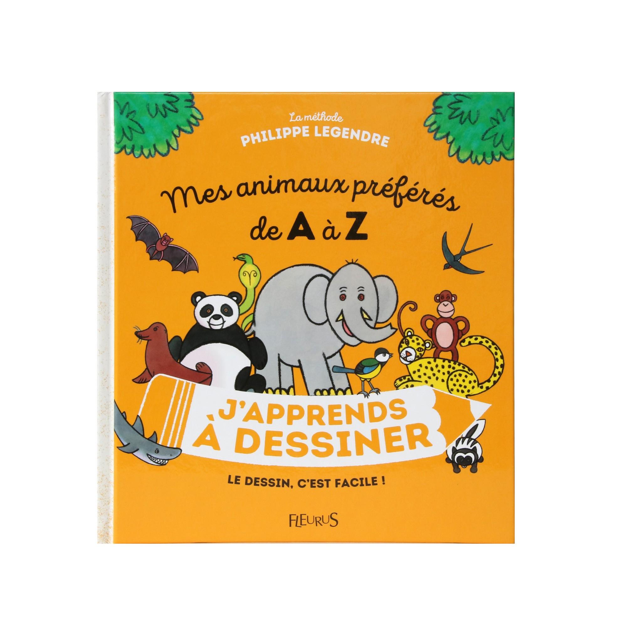 J'Apprends À Dessiner : Mes Animaux Préférés De A À Z - French Edition concernant J Apprend À Dessiner