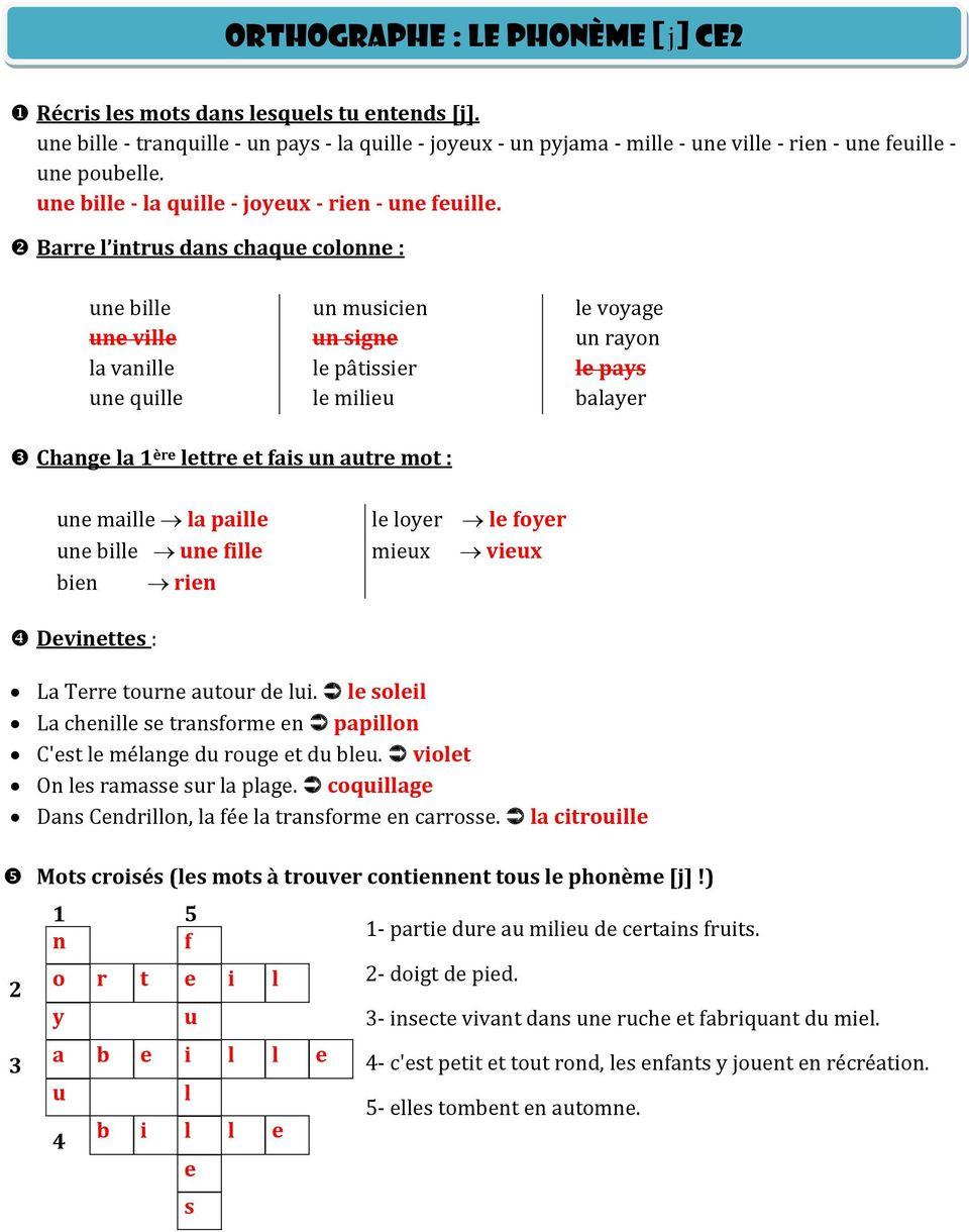 Je Mémorise Et Je Sais Écrire Des Mots Ce2 - Pdf Free Download avec Barre L Intrus