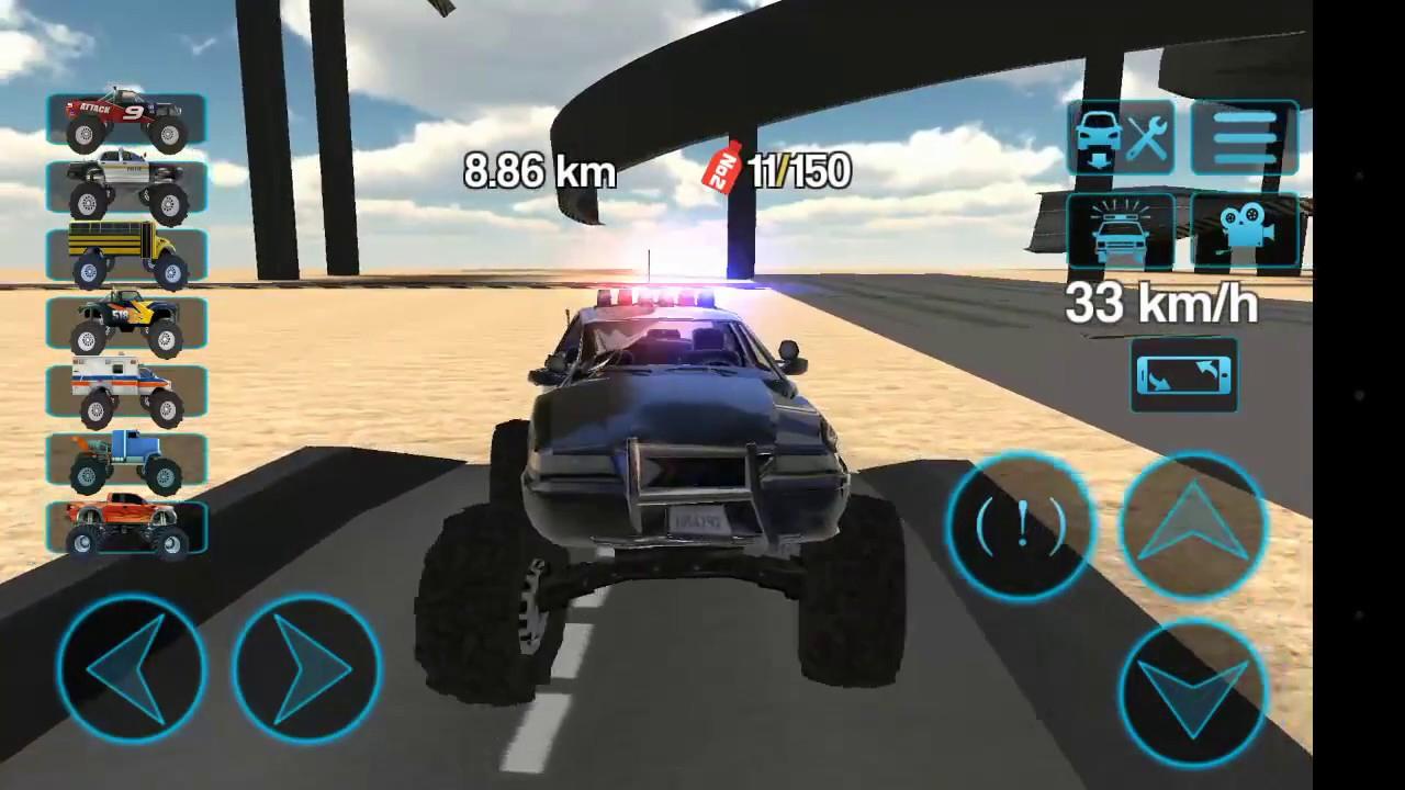 Jeep Et Voiture De Police 4X4.jeu Vidéo destiné Jeux De Voiture Accident