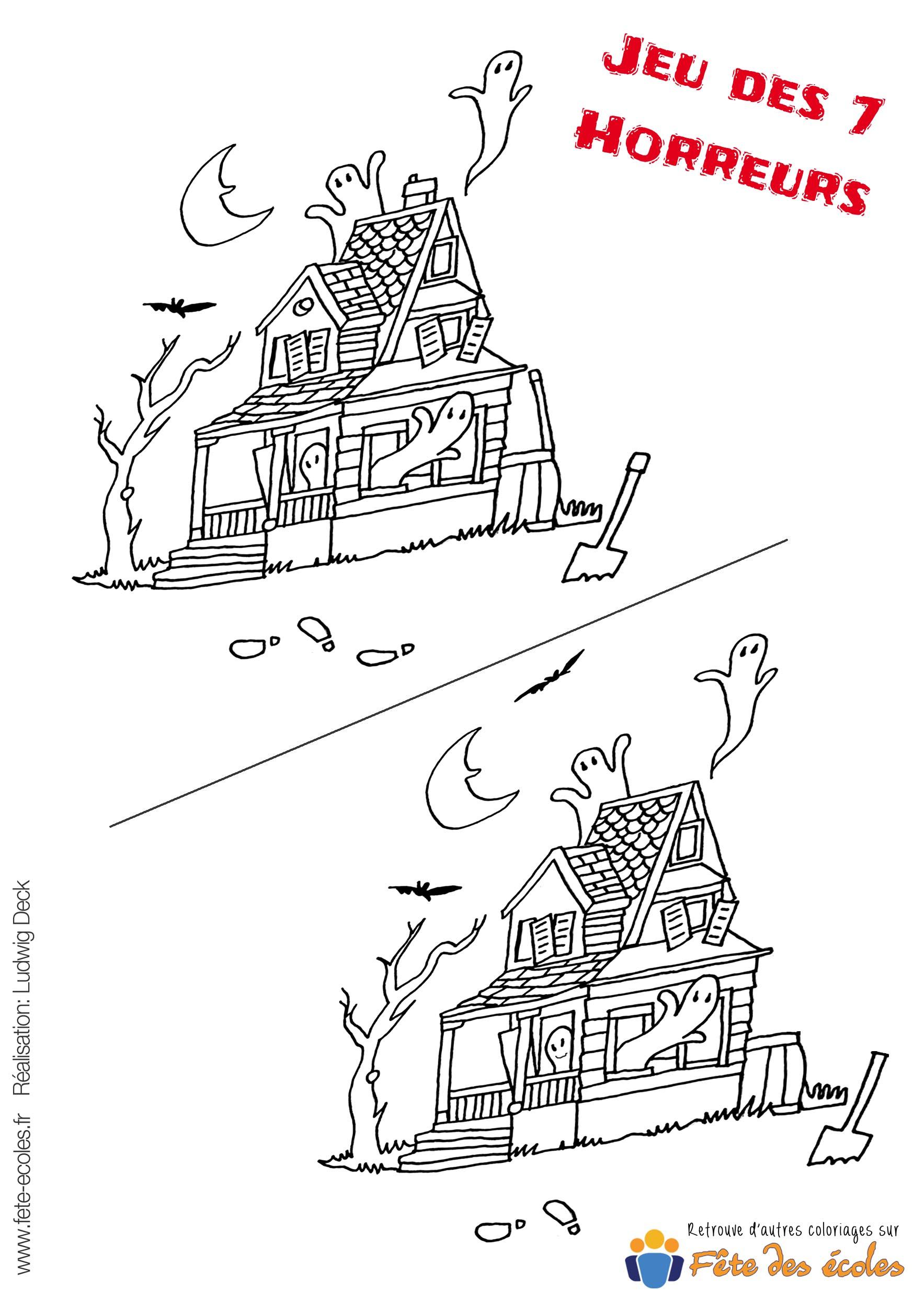 Jeu 7 Erreurs Maison Hantée à Jeu Des Sept Erreurs