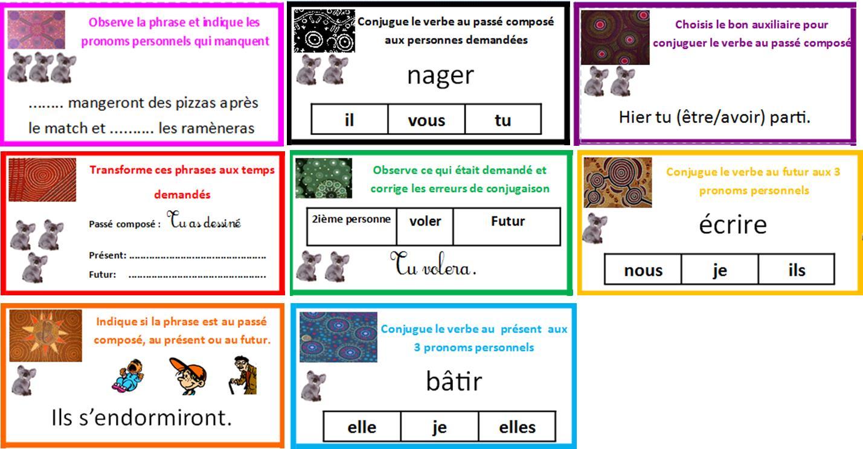 Jeu À Imprimer Conjugaison | Le Blog De Monsieur Mathieu encequiconcerne Jeux De Cm1 Gratuit