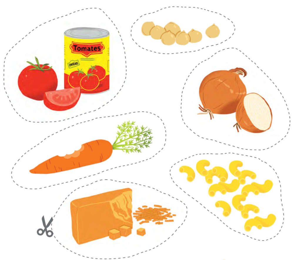 Jeu À Imprimer - Cuisine Ton Repas | Fondation Olo concernant Qui Est Ce Jeu Personnages À Imprimer