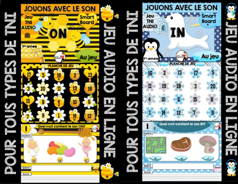 Jeu Audio Sur Les Sons (Tni Ou Internet) | Jeux De Lettres destiné Jeux Interactifs Primaire