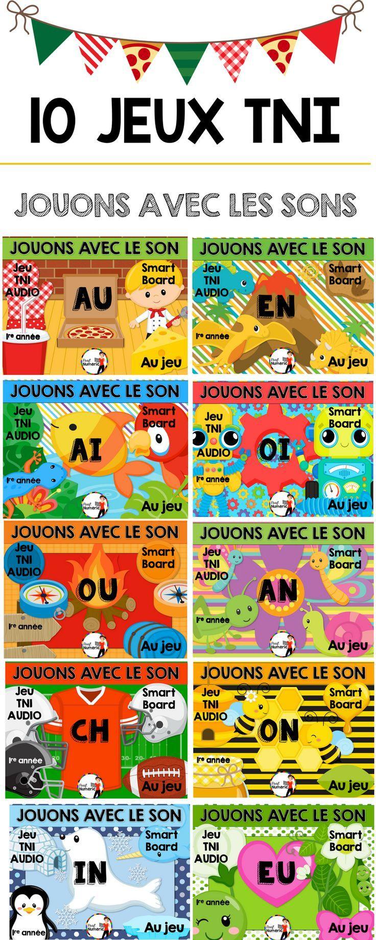 Jeu Audio Sur Les Sons (Tni Ou Internet) | L'éducation avec Jeux Interactifs Primaire