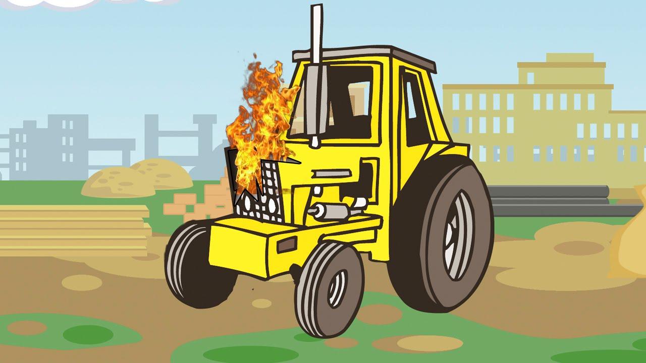Jeu D'assemblage - Le Tracteur Jaune - Voitures De Construction - Vidéo  Éducative Pour Enfants dedans Le Jeu De La Voiture Jaune