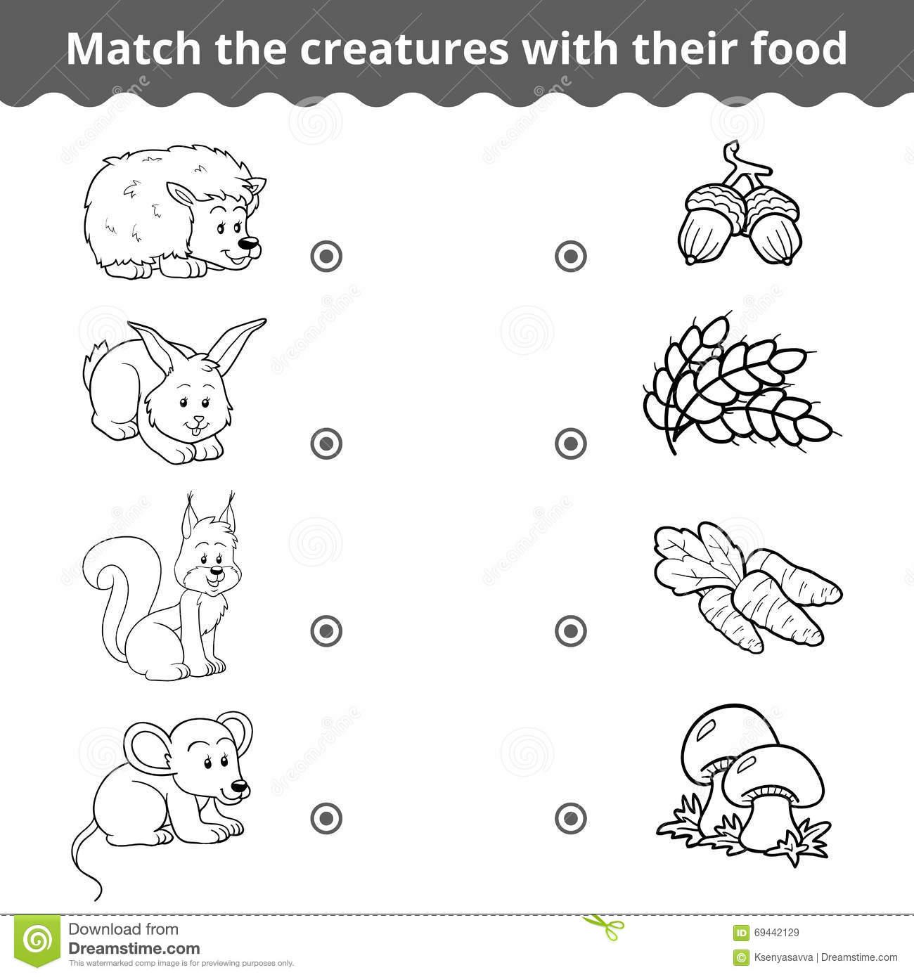 Jeu D'assortiment Pour Des Enfants, Des Animaux De Forêt Et encequiconcerne Jeux Enfant Animaux