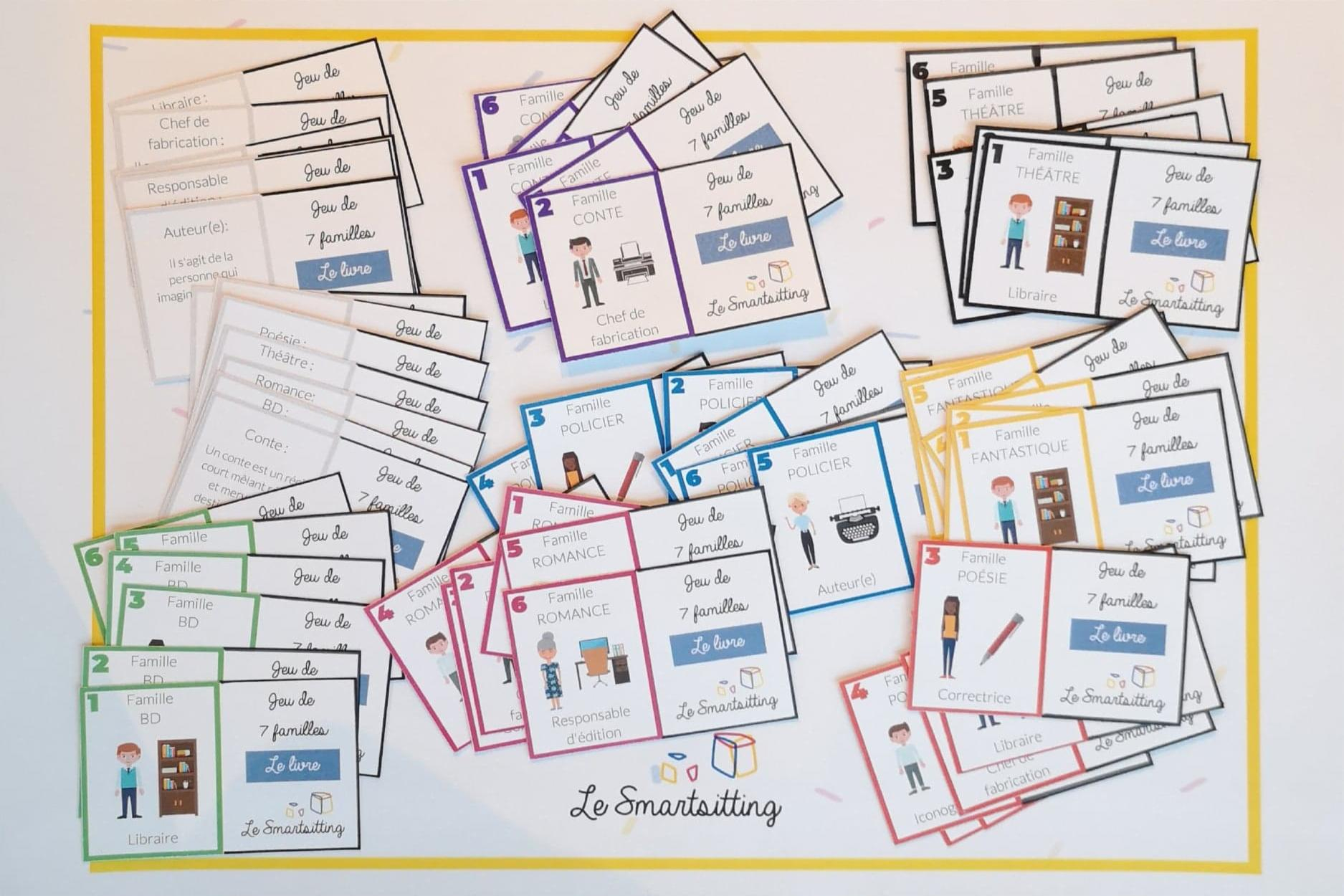 Jeu De 7 Familles Original Et Gratuit | Le Blog Du Babysitting à Jeux De Cartes À Télécharger Gratuitement