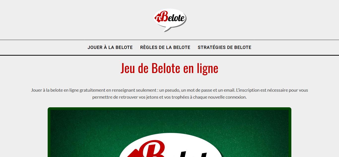 Jeu De Belote Gratuit Sans Inscription - Annuaire Web concernant Jeux De Mots En Ligne Gratuit