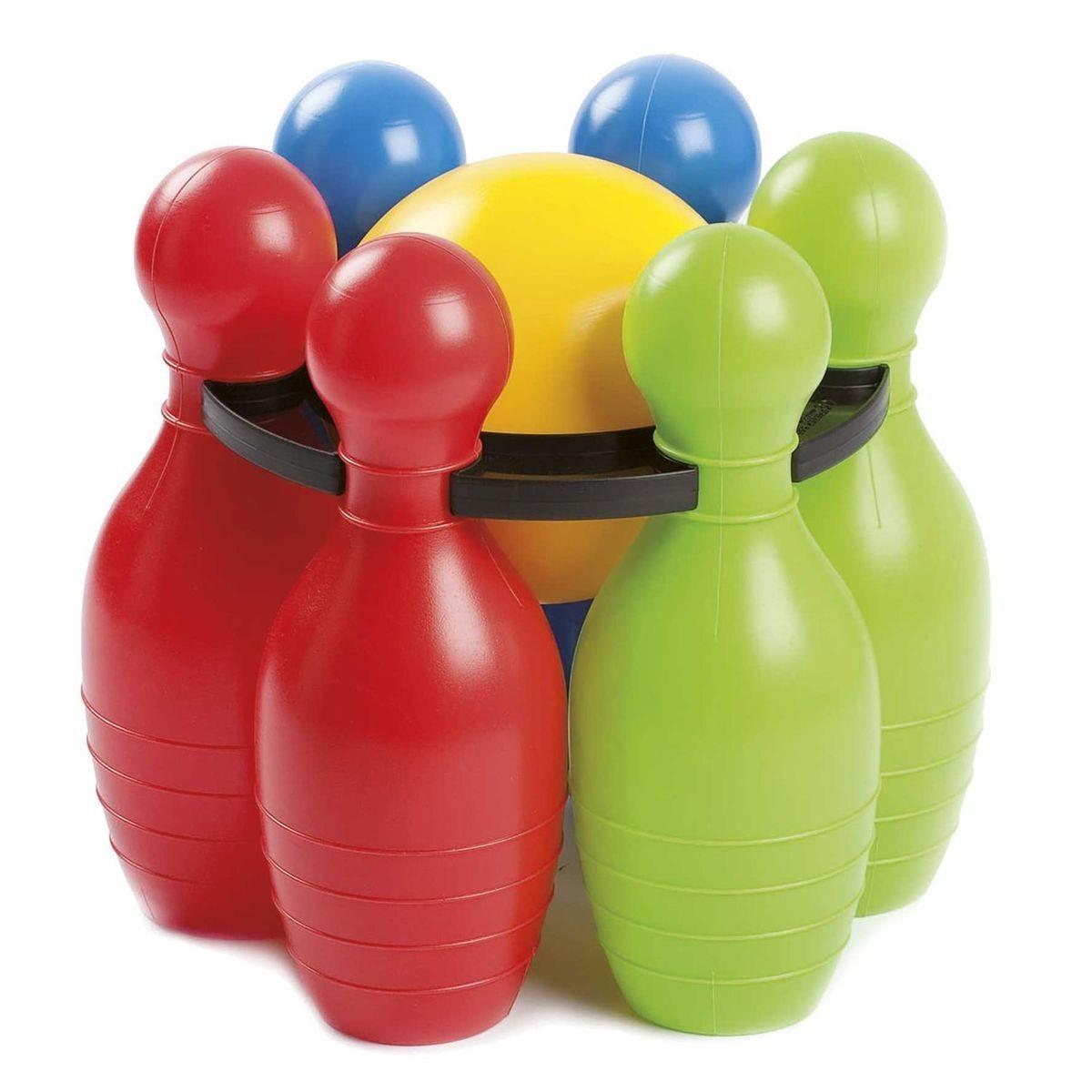 Jeu De Bowling Enfant - 6 Quilles Et 1 Boule - Plastique encequiconcerne Jeu Bowling Enfant