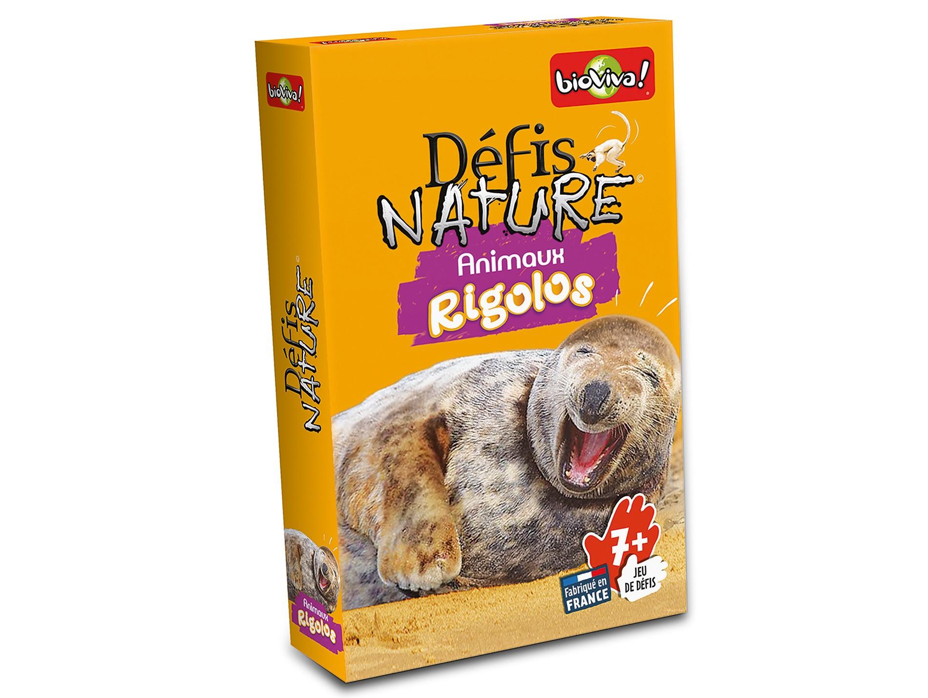 Jeu De Cartes Défis Nature - Animaux Rigolos pour Jeu De Carte De France