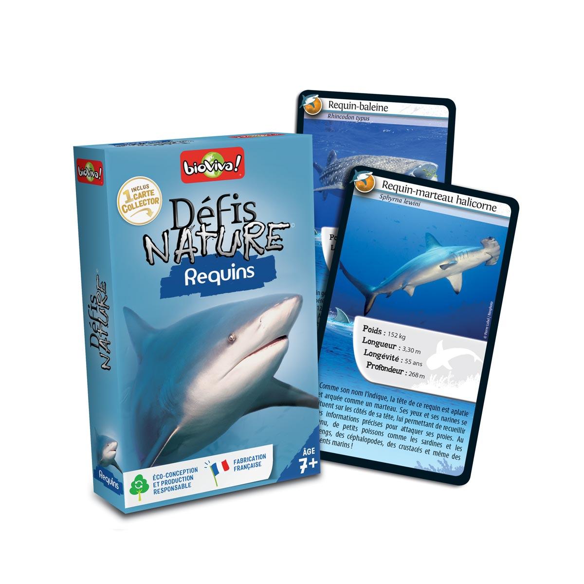 Jeu De Cartes Défis Nature Requins dedans Requin Jeux Gratuit