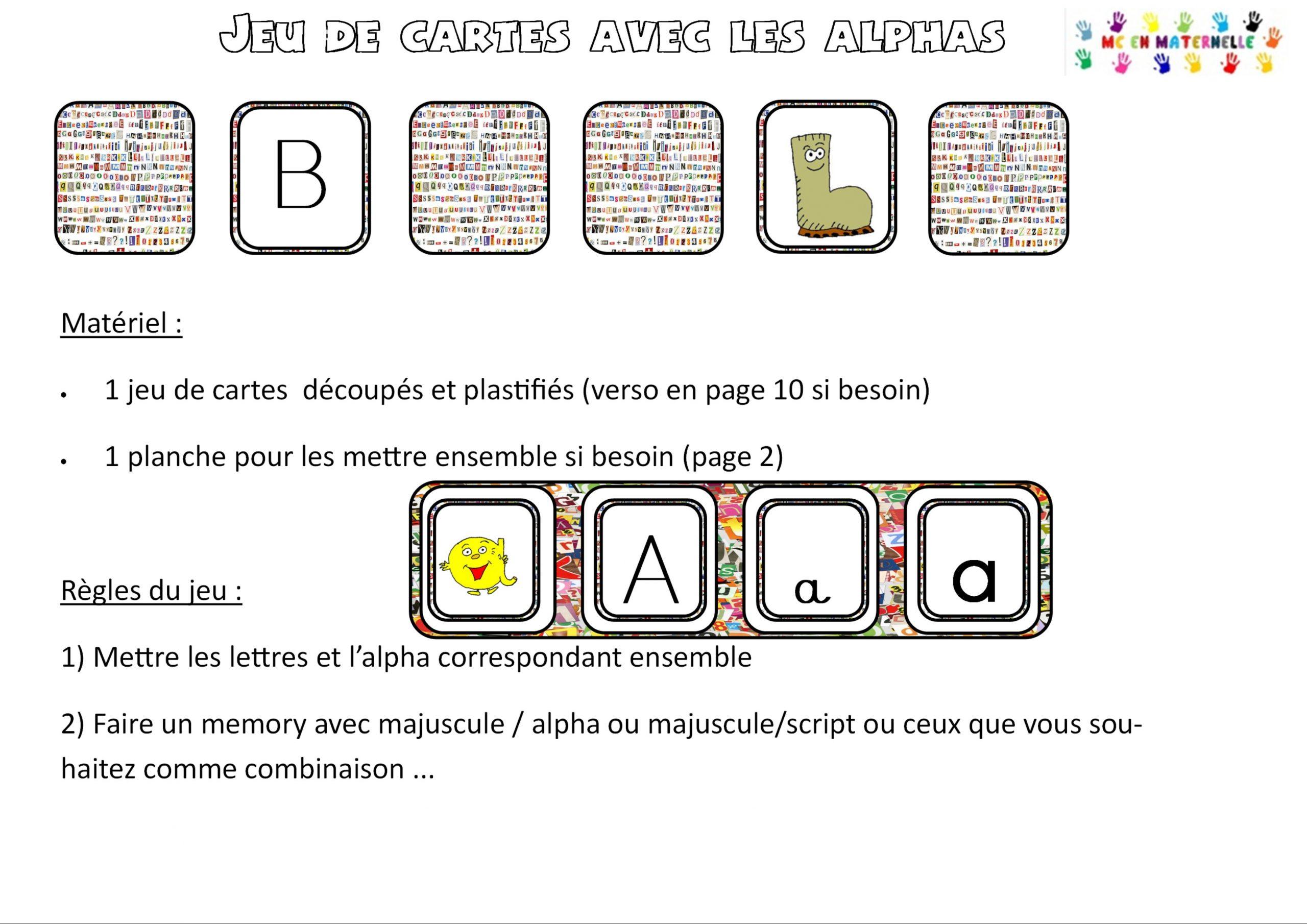 Jeu De Cartes Lettres Majuscules/script/attachés Et Alphas tout Majuscule Script