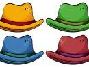 Jeu De Chapeaux Colorés Sur Un Fond Blanc avec Jeu Des Chapeaux