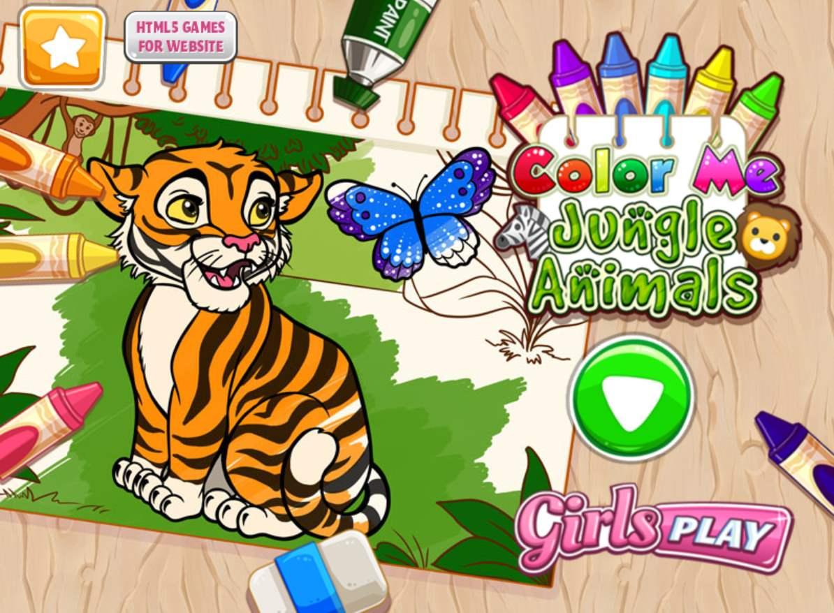 Jeu De Coloriage Des Animaux Pour Filles Et Garçons à Jeux Animaux Pour Fille