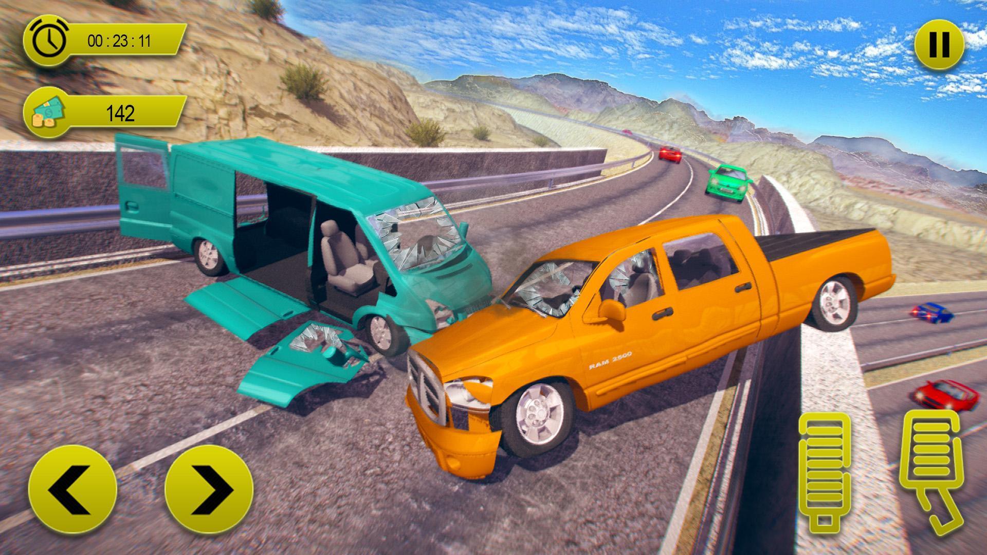 Jeu De Conduite D'accident De Voiture: Sauts De Pour Android serapportantà Jeux De Voiture Accident
