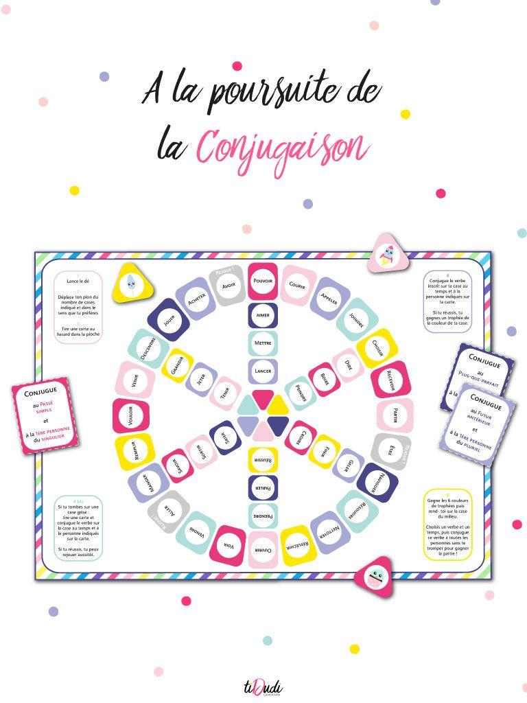 Jeu De Conjugaison - À La Poursuite De La Conjugaison | Jeu pour Jeux Pour Cm2