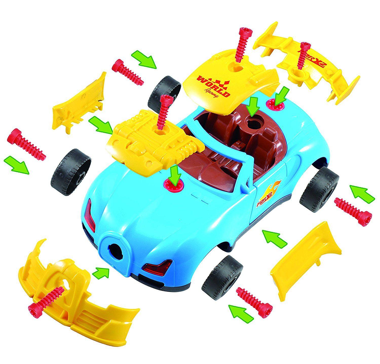 Jeu De Construction Amovible Voiture Le Camion Bricoleur intérieur Course De Voiture Pour Enfant