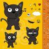 Jeu De Dessin Animé Pour Le Chat Halloween Noir concernant Jeux De Dessin De Chat