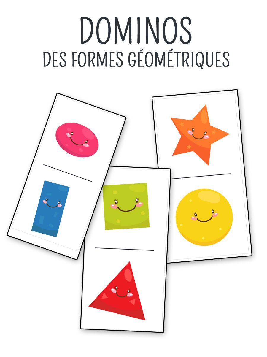Jeu De Domino À Imprimer Sur Les Formes Géométriques concernant Formes À Découper Maternelle