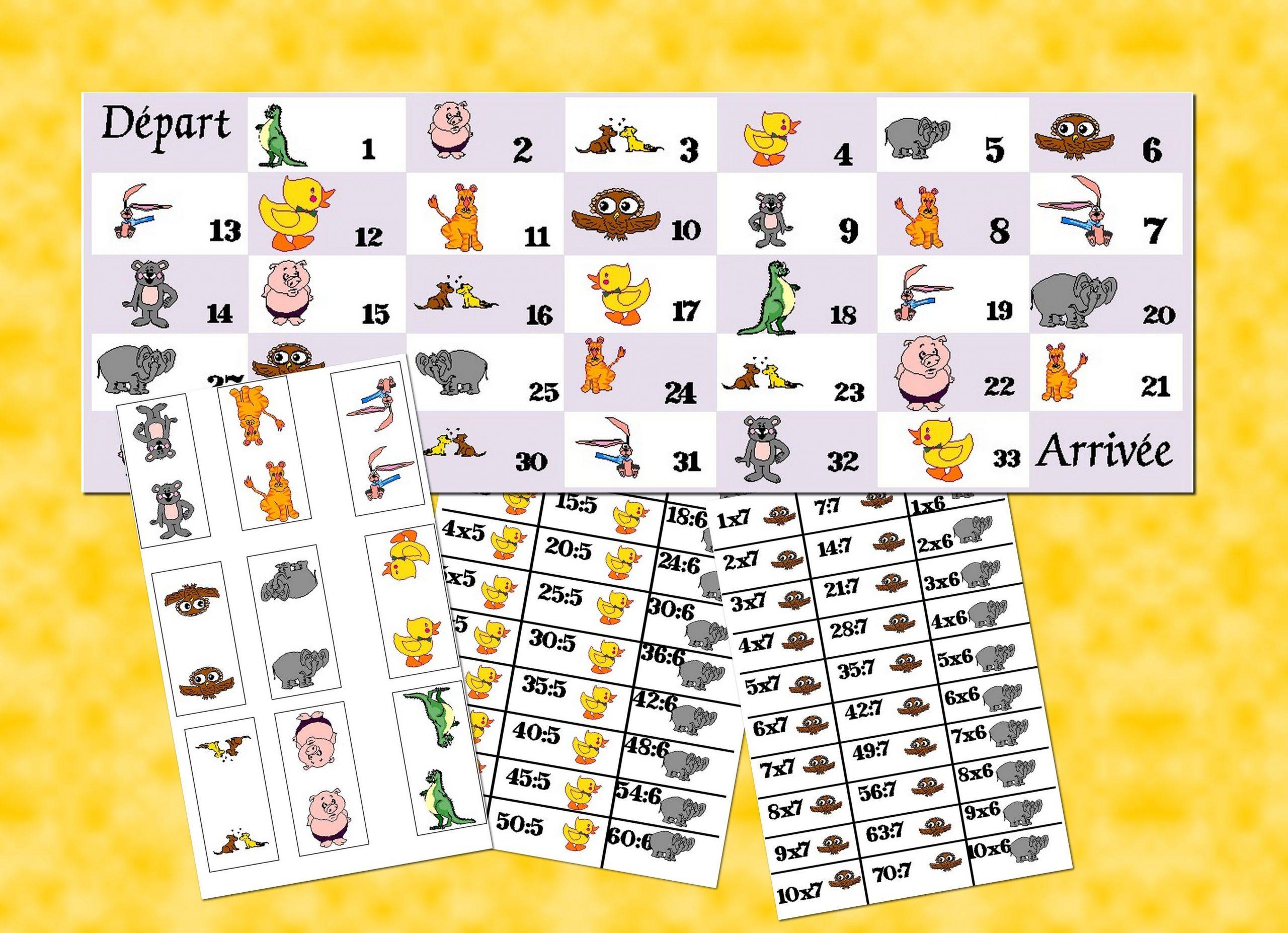 Jeu De L'oie: Les Tables De Multiplication Et De Division concernant Jeux Educatif Table De Multiplication