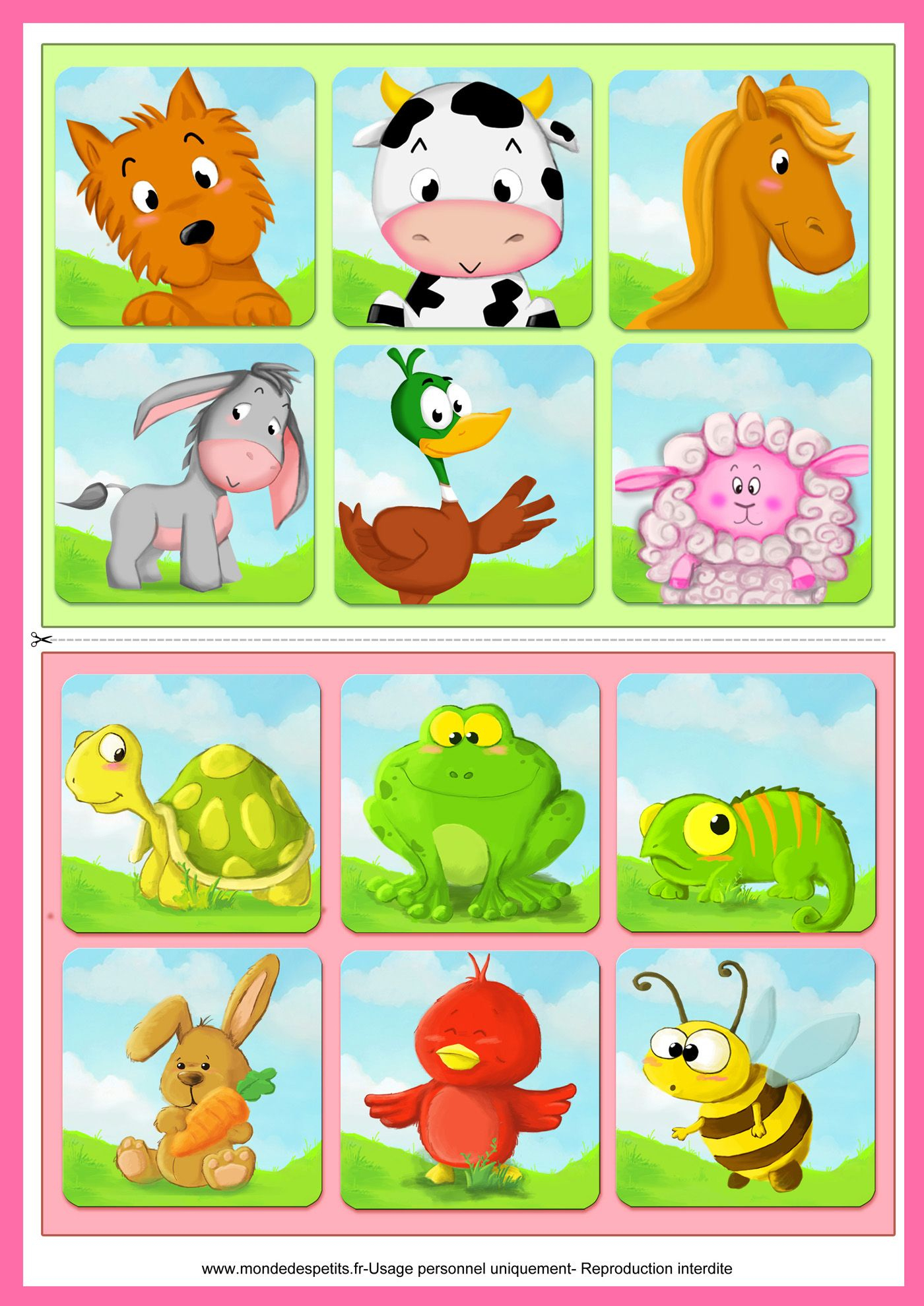 Jeu De Loto À Imprimer Pour Les Enfants | Loto Enfant, Jeux encequiconcerne Jeux Animaux Pour Fille