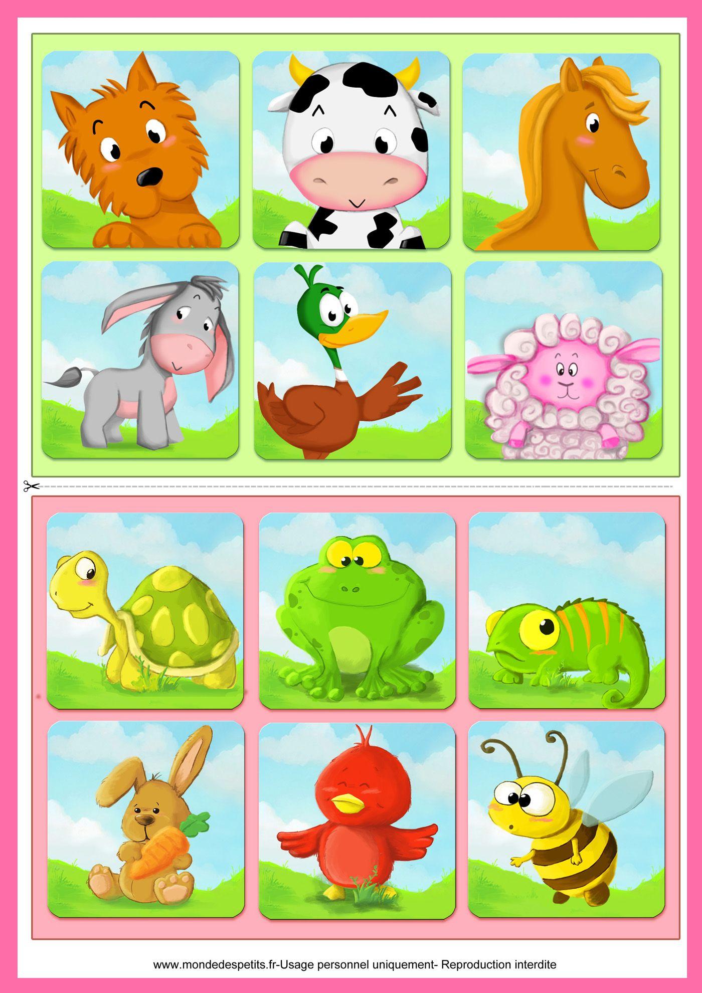 Jeu De Loto À Imprimer Pour Les Enfants   Loto Enfant, Jeux serapportantà Jeux De Bébé Animaux Gratuit