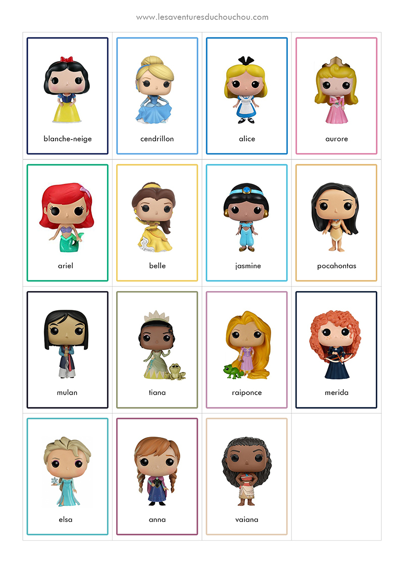 Jeu De Memory À Imprimer / Memory Game Printable (Disney tout Qui Est Ce Jeu Personnages À Imprimer